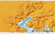 Political 3D Map of Narsarsuaq