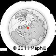 Outline Map of Kotlas, rectangular outline