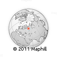 Outline Map of Koryazhma, rectangular outline