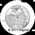 Outline Map of Surgut, rectangular outline
