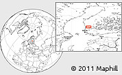 """Blank Location Map of the area around 61°39'52""""N,22°10'29""""E"""