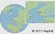 "Savanna Style Location Map of the area around 61°39'52""N,22°10'29""E"