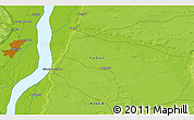 """Physical 3D Map of the area around 62°0'21""""N,130°7'30""""E"""