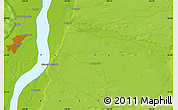 """Physical Map of the area around 62°0'21""""N,130°7'30""""E"""