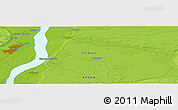 """Physical Panoramic Map of the area around 62°0'21""""N,130°7'30""""E"""