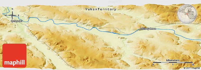 Physical Panoramic Map of Carmacks