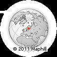 Outline Map of Merikarvia, rectangular outline