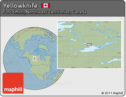 Map Of Canada Yellowknife.Free Savanna Style Location Map Of Yellowknife Hill Shading