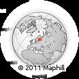 Outline Map of Rauhaniementie, rectangular outline