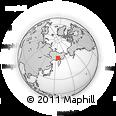 Outline Map of Omsukchan, rectangular outline