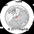 Outline Map of Joensuu, rectangular outline