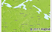 """Physical Map of the area around 62°40'59""""N,30°40'29""""E"""