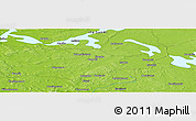 """Physical Panoramic Map of the area around 62°40'59""""N,30°40'29""""E"""