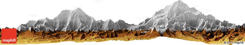 Physical Horizon Map of Mt McKinley