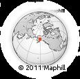 Outline Map of Mt McKinley, rectangular outline
