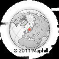 Outline Map of Kramfors, rectangular outline