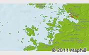 Physical 3D Map of Vaasa
