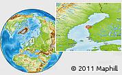 Physical Location Map of Vaasa