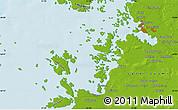 Physical Map of Vaasa