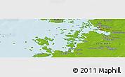 Physical Panoramic Map of Vaasa
