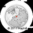 Outline Map of Kuopio, rectangular outline