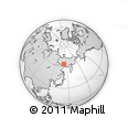 Outline Map of Oymyakon, rectangular outline