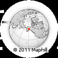Outline Map of Denali Park, rectangular outline