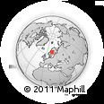 Outline Map of Grundtjärn, rectangular outline