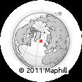 Outline Map of Mýrdalsjökull Glacier, rectangular outline