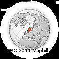 Outline Map of Gavsele, rectangular outline
