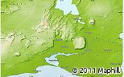 Physical Map of Selfoss