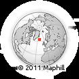 Outline Map of Selfoss, rectangular outline