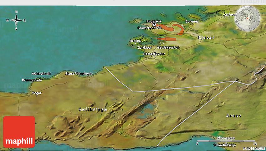 Satellite D Map Of Reykjavík - Reykjavík map