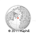"""Outline Map of the Area around 64° 0' 52"""" N, 22° 1' 29"""" W, rectangular outline"""