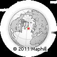 Outline Map of Reykjavik, rectangular outline