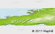 """Physical Panoramic Map of the area around 64°0'52""""N,22°1'29""""W"""