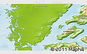Physical 3D Map of Godthåb