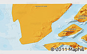 Political 3D Map of Godthåb
