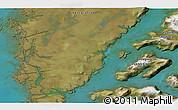 Satellite 3D Map of Godthåb