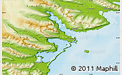 Physical Map of Djúpivogur