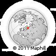 Outline Map of Belomorsk, rectangular outline