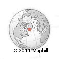 Outline Map of Qoornoq, rectangular outline