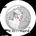 Outline Map of Iceland, rectangular outline