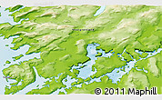 """Physical 3D Map of the area around 64°59'36""""N,51°46'29""""W"""