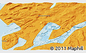 """Political 3D Map of the area around 64°59'36""""N,51°46'29""""W"""