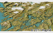 """Satellite 3D Map of the area around 64°59'36""""N,51°46'29""""W"""