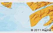 Political 3D Map of Maniitsoq