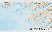Shaded Relief 3D Map of Maniitsoq