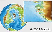Physical Location Map of Maniitsoq