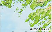Physical Map of Maniitsoq